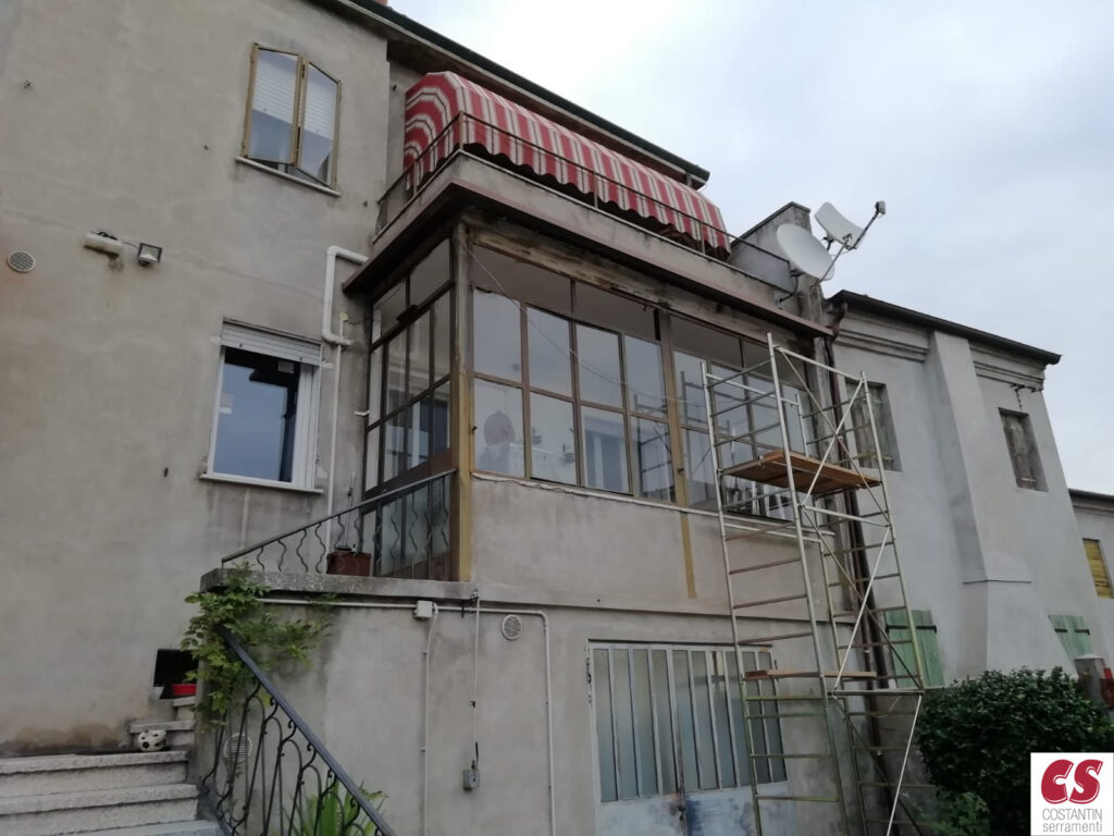 Sostituzione serramenti veranda per terrazzo Rovigo