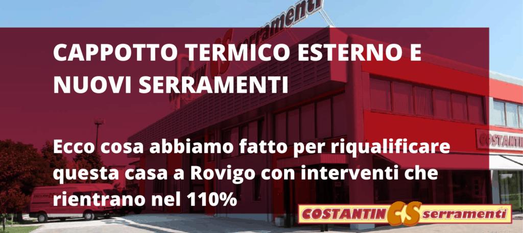Cappotto termico e serramenti Ecobonus 110% a Rovigo