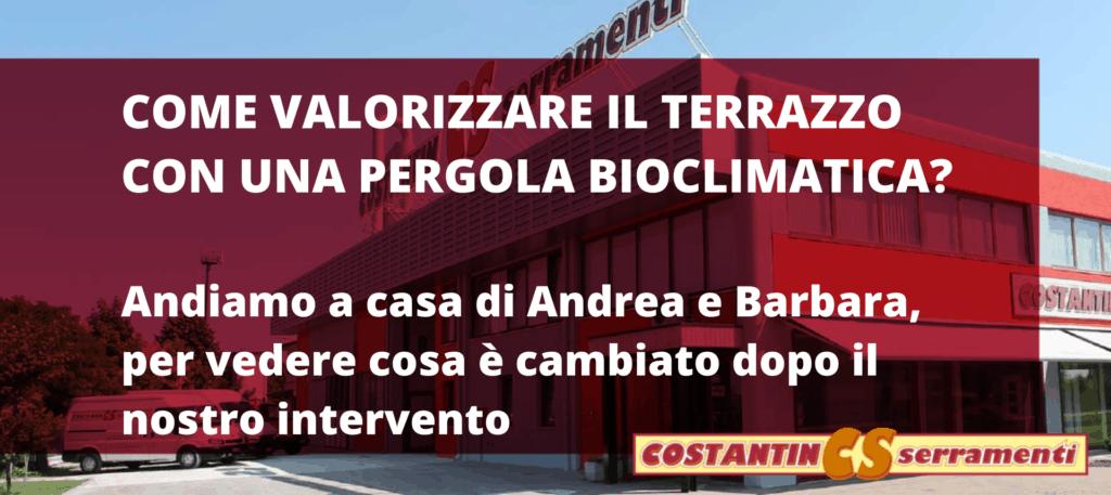 Pergola bioclimatica Padova per il terrazzo