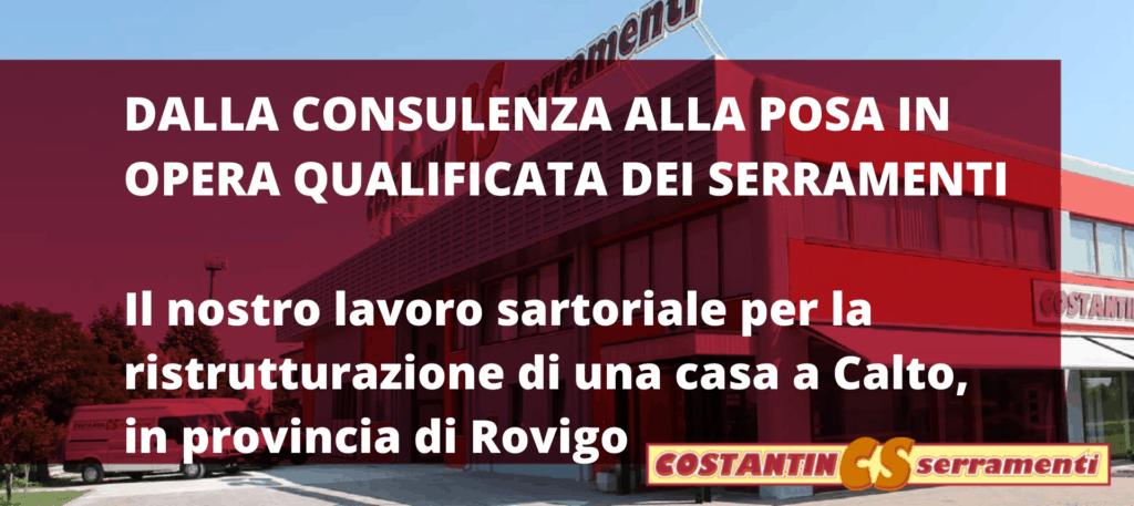 Sostituzione serramenti Rovigo per una ristrutturazione di successo